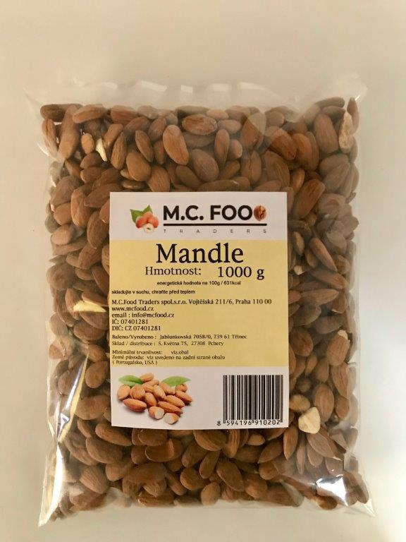 Mandle natural, 1 000 g